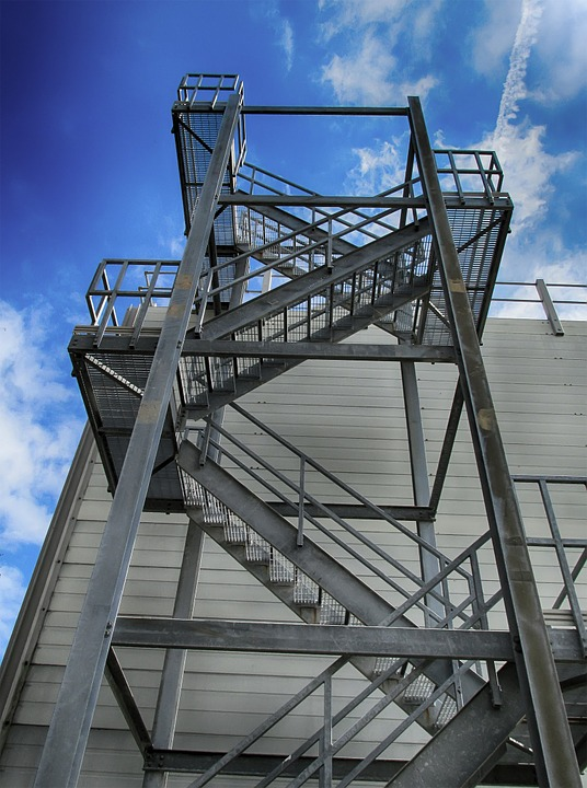 Free photo: Building, Sky, Stairs, Exterior - Free Image on ...
