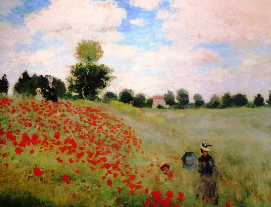 Pittura Claude Monet Klatschmohn - Foto gratis su Pixabay