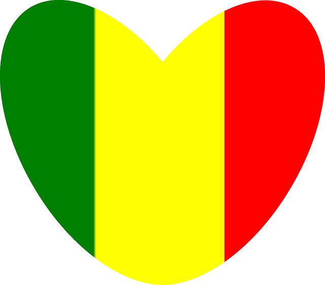 Vector Graphic Reggae Rasta Heart