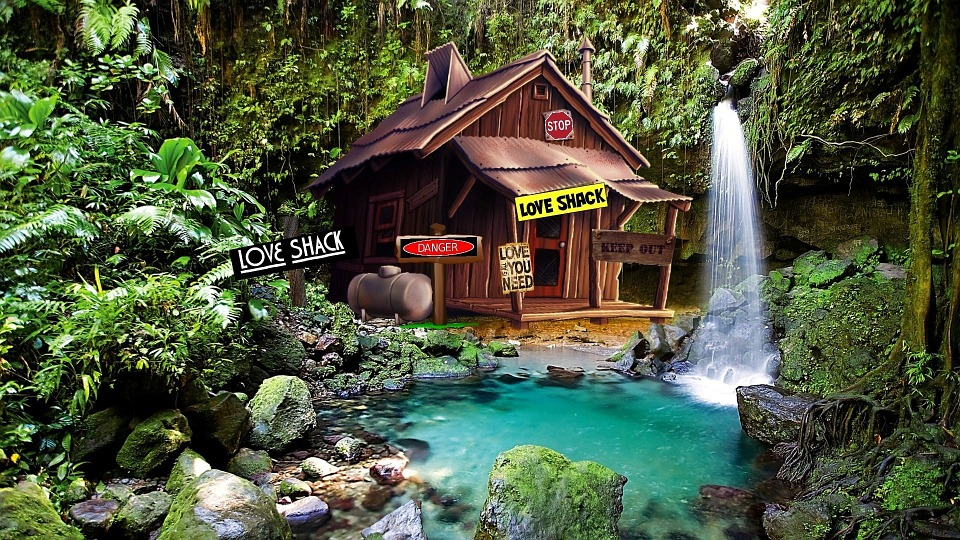 Free illustration shack cabin woods lagoon free for Shack homes