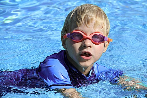 Swimming, Lesson, Boy, Water
