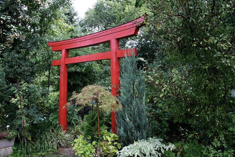 Jardin Japonais Torii Photo Gratuite Sur Pixabay