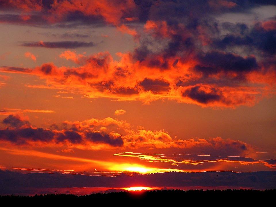 Sunset Summer Clouds - Free photo on Pixabay