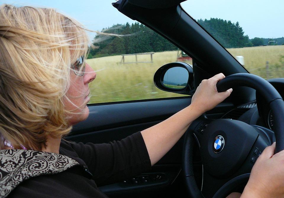 Жена, Човек, Cabrio, Кабриолет, Cabrio Шофьор, Кола