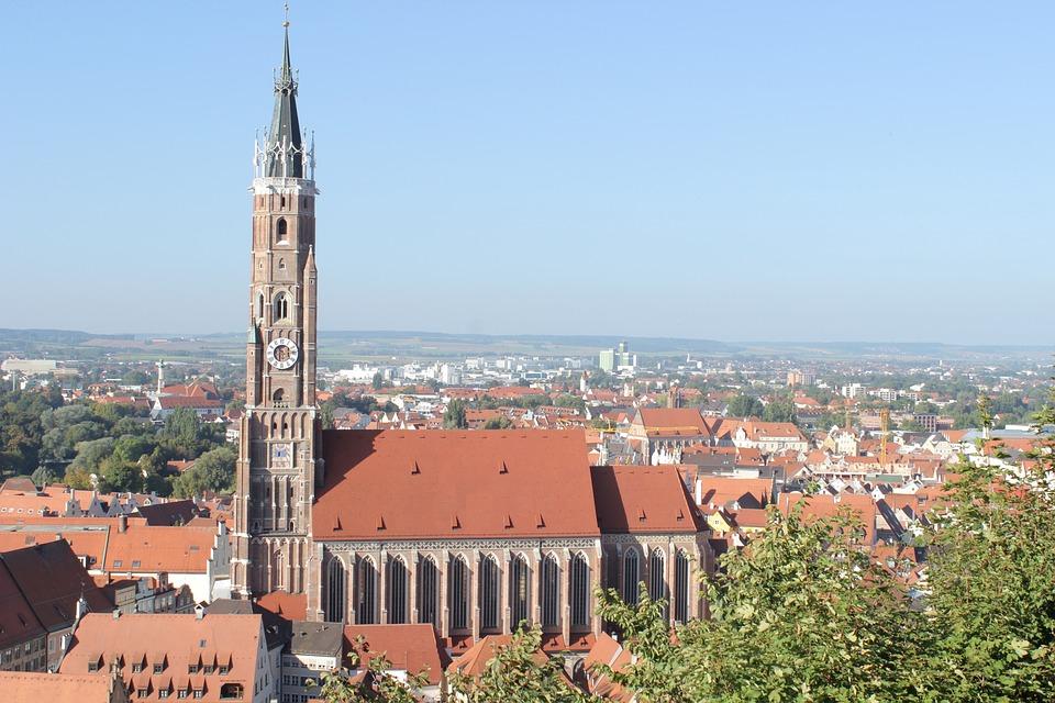 Kirche, Landshut, Stadt, Bayern, Historisch