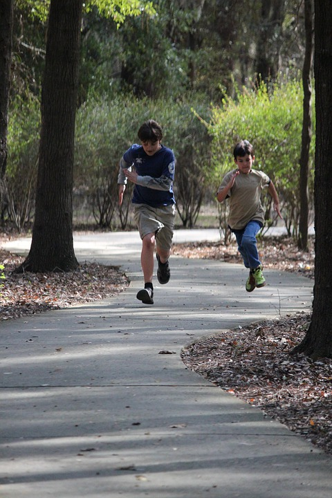 Free Photo Boys Running Trails Summer Free Image On