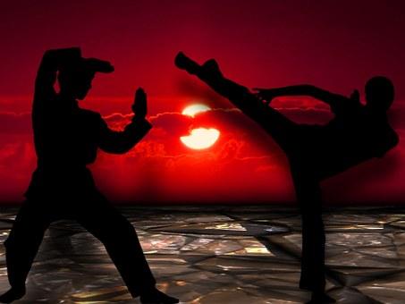 Martial Arts, Silhuetten, Muay Thai