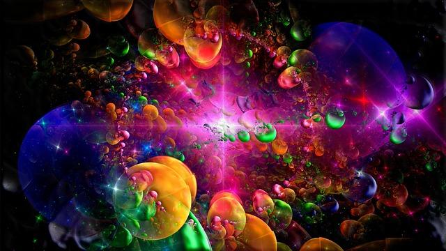 Cosmic Fantasy Fractal Blacklight