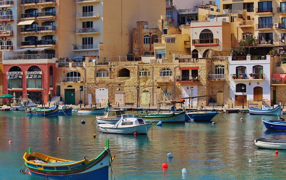 Malta, Arquitetura, Fora, Água, Pier, Navegação