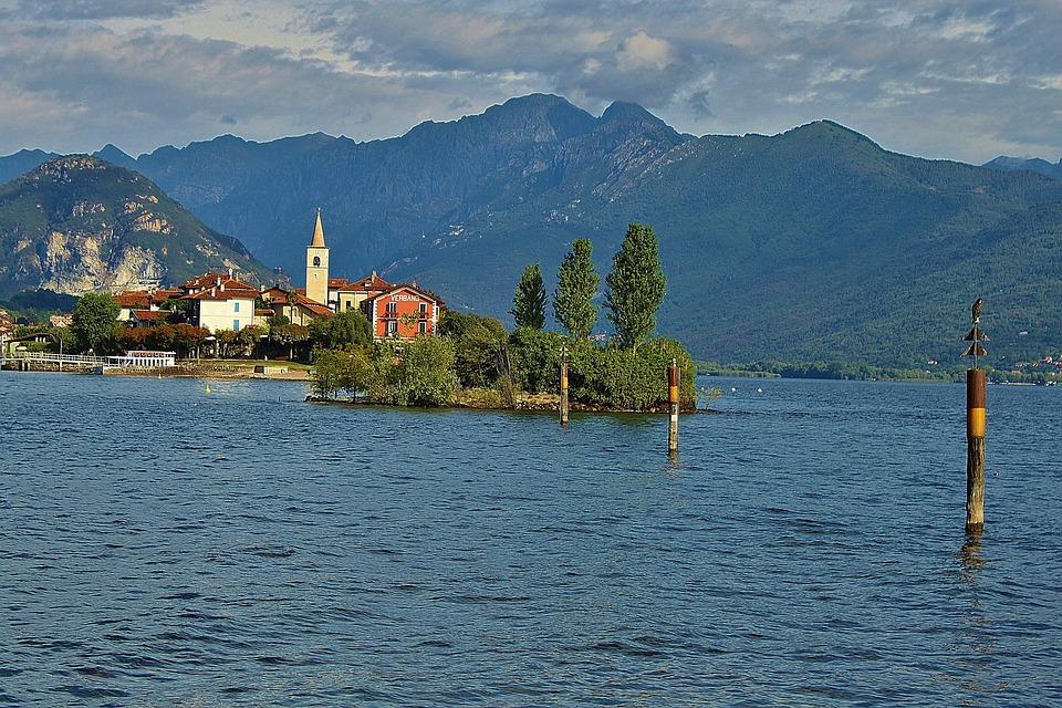 Lake Maggiore, Landscape, Island