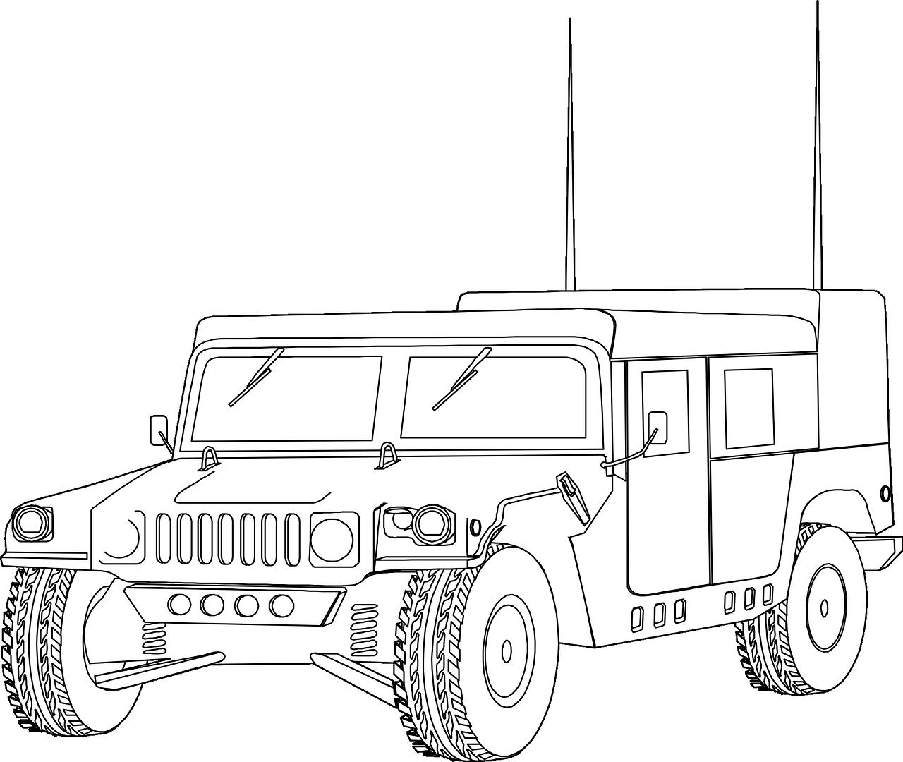 военные машины картинки для раскраски выбирала отель