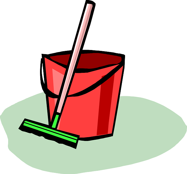 Cleaning Up Broom Bucket 183 Free Vector Graphic On Pixabay