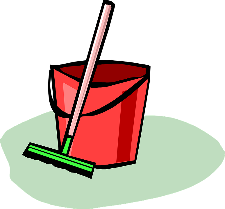 Cleaning Up, Broom, Bucket, Home, Ground, Cleaning, Mop