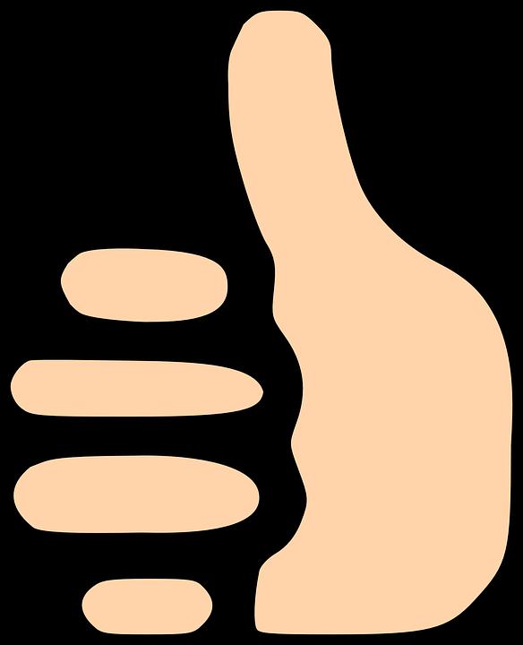 Палец вверх гифка на прозрачном фоне