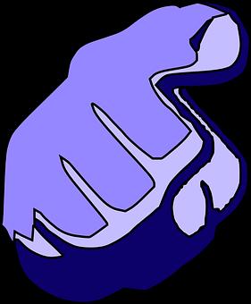 Hinweis, Blau, Hand, Zeigefinger