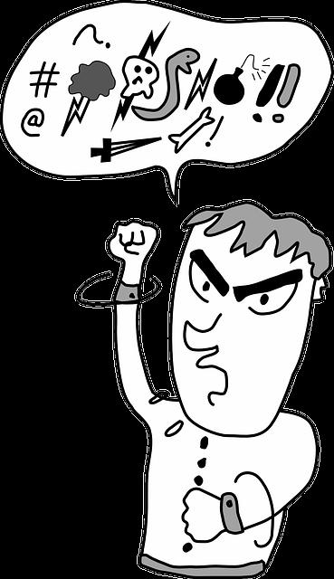 swearing profanity cursing  u00b7 free vector graphic on pixabay