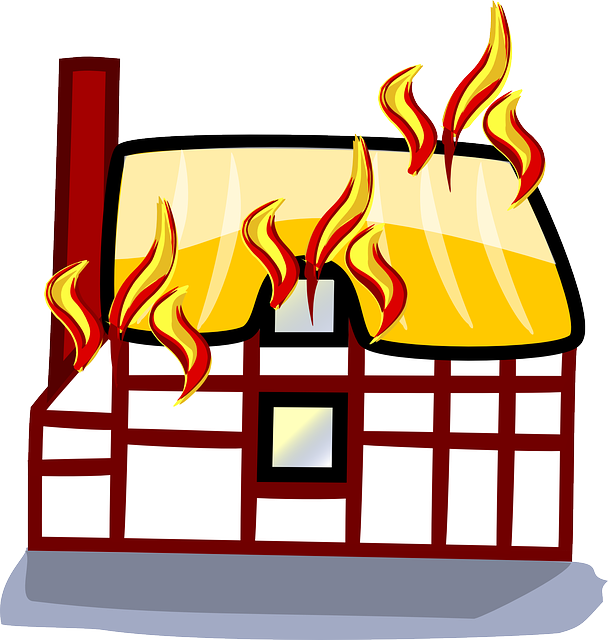 Free vector graphic: Fire, Building, House, Home - Free ...