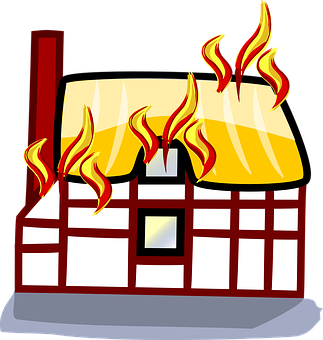 Fire, Building, House, Home, Burning