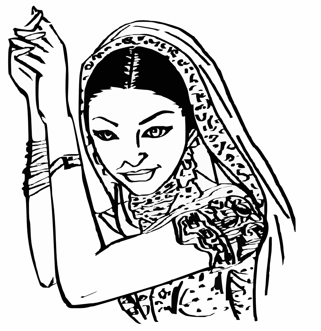 Indian Female Woman - Free vector graphic on Pixabay