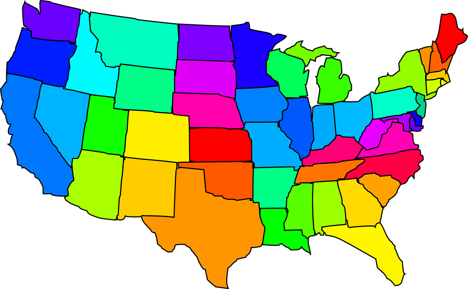 Map United States Usa America States