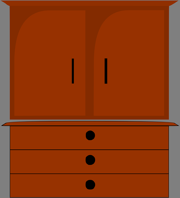 Cartoon Kitchen Furniture: Furniture Dresser Cupboard · Free Vector Graphic On Pixabay
