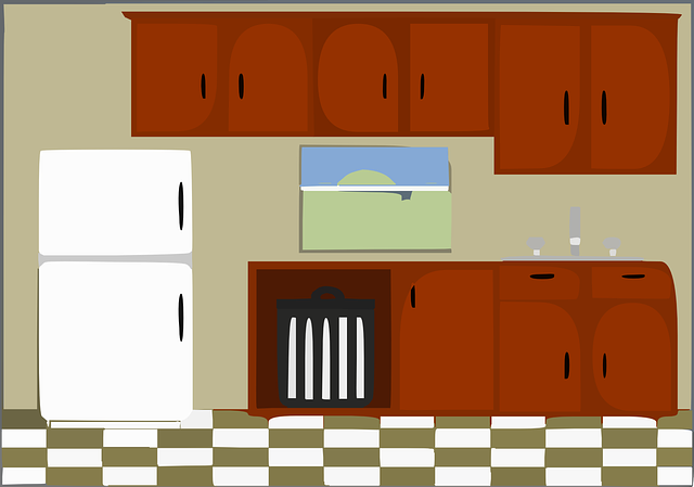Free vector graphic kitchen house rooms furniture for Kitchen set drawing