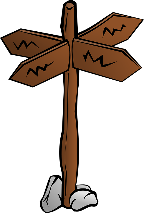 Crossroads Signpost Directions · Free vector graphic on ...
