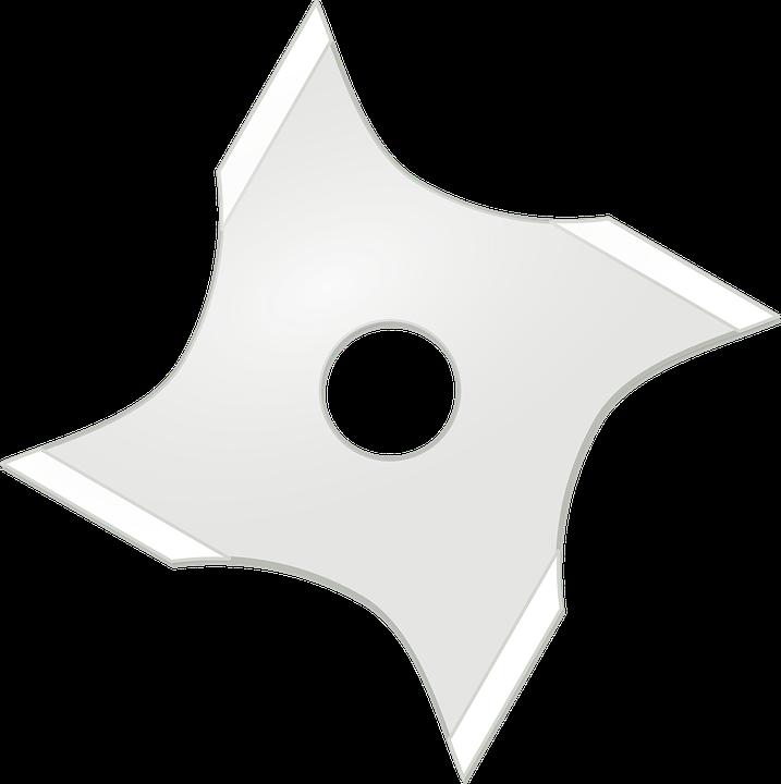 Ninja Star Shuriken Weapon · Free vector graphic on Pixabay