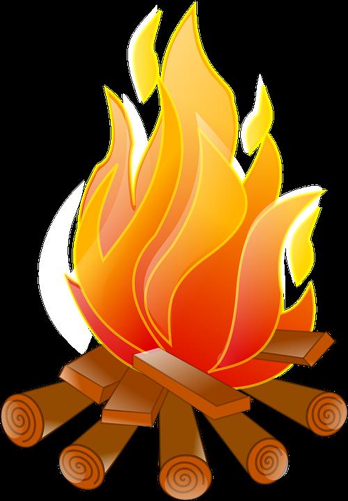 Kamp Ateşi Yangın Ağaç Gövdeleri Pixabayda ücretsiz Vektör Grafik