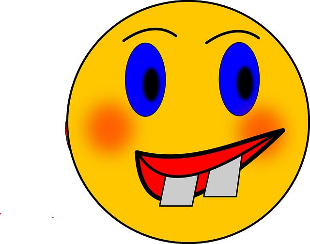 Free vector graphic smiley crazy wacky head face