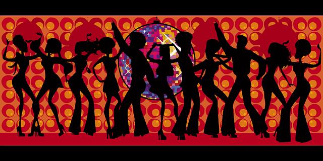 Image vectorielle gratuite danse c l bration disco for Musique barre danse classique gratuite