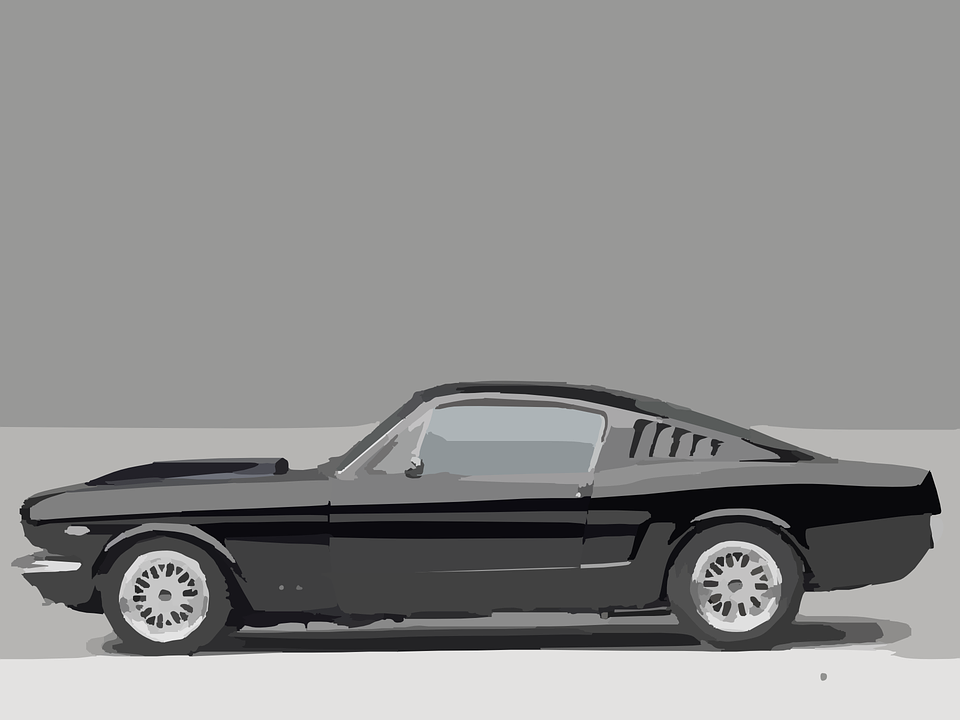 Free Vector Graphic Sports Car Muscle Car Vintage Free Image