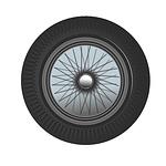 classic, car, wheel