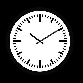 Uhr, Zeit, Stunde, Minute, Wanduhr