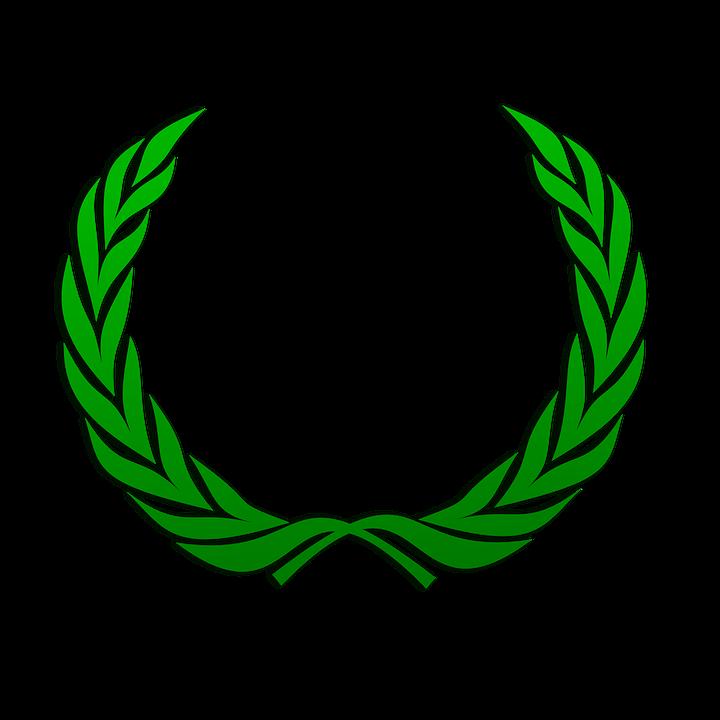 Lorbeerkranz, Kranz, Grün, Blätter, Frieden, Zweig