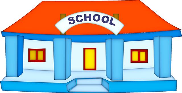 Gambar Vektor Gratis Sekolah Bangunan Pendidikan