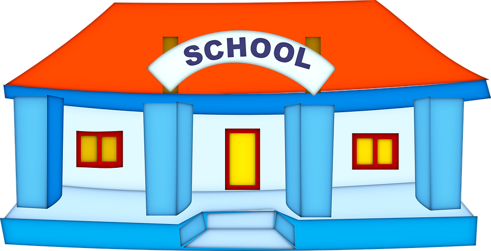 School Building Education - Free vector graphic on Pixabay