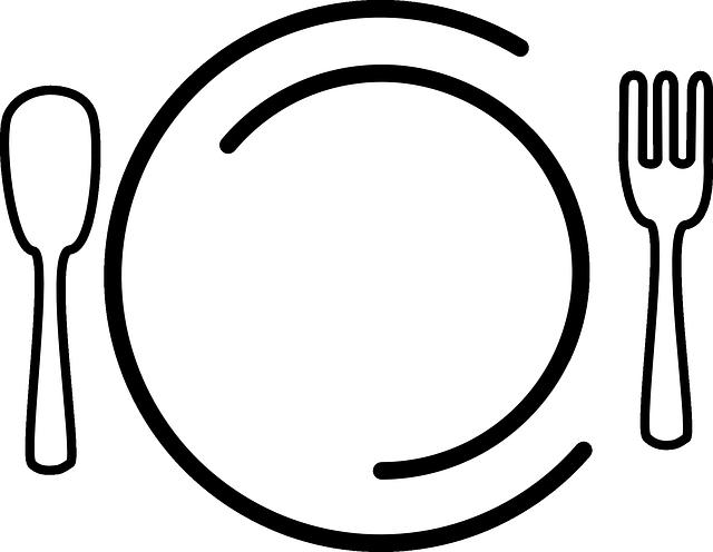 pratos placa garfo gr fico vetorial gr tis no pixabay. Black Bedroom Furniture Sets. Home Design Ideas