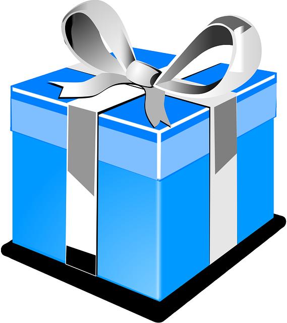 Regalo presente azul gr ficos vectoriales gratis en pixabay for In regalo gratis