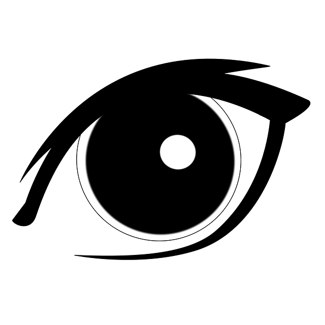 eyes vector pupil iris graphic looking human pixabay