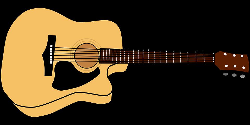 Гитара нарисованная