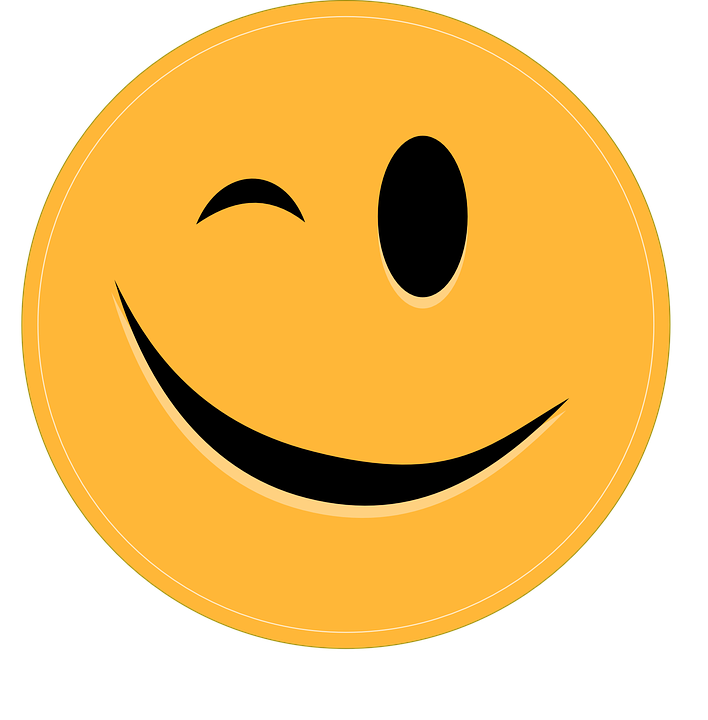 Smiley Zwinkern Emoticon · Kostenlose Vektorgrafik auf Pixabay