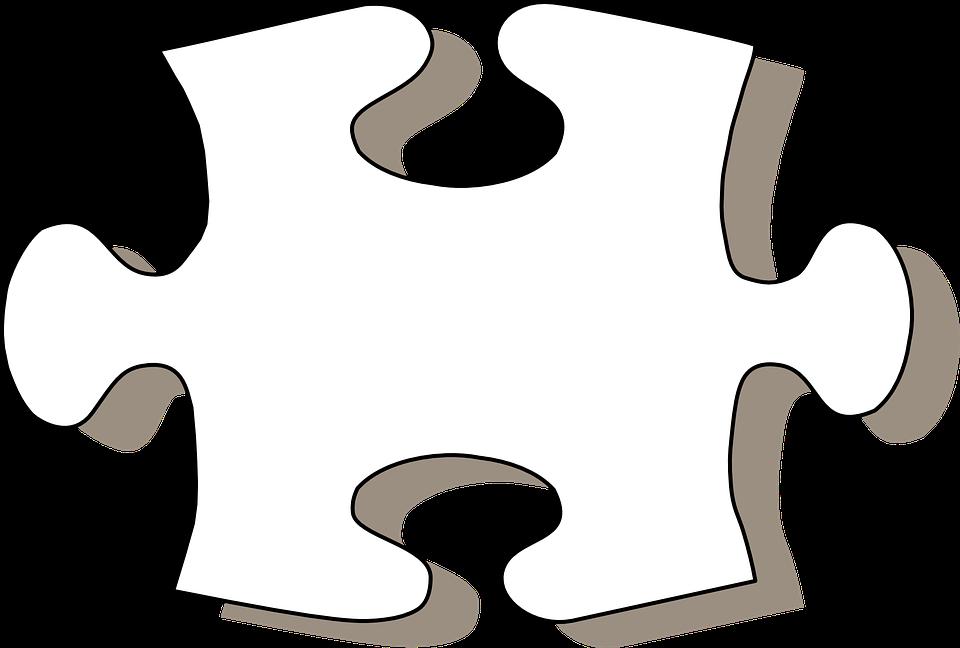 Jigsaw Puzzle Piece Black White Geometric