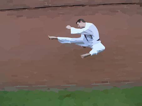 Karate, Kick, Jumping, Martial Arts