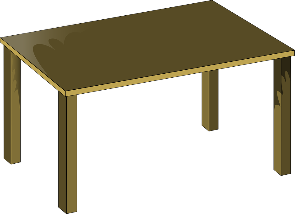 free vector graphic table brown wood furniture free