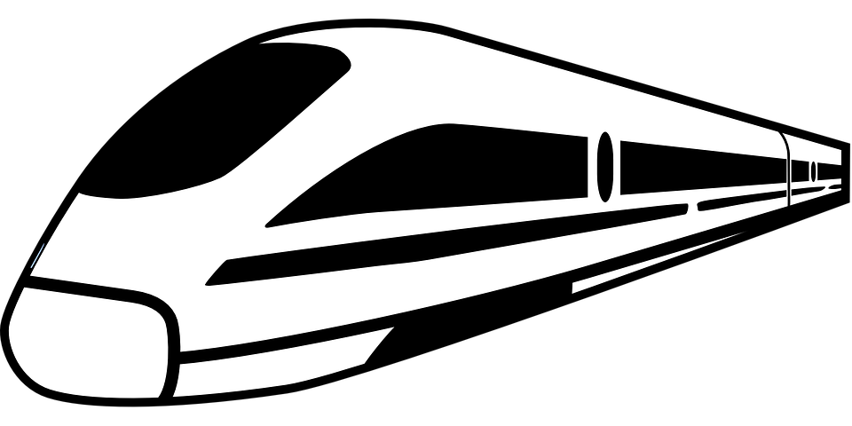 Amtrak high speed train free vector graphic on pixabay for Amtrak coloring pages