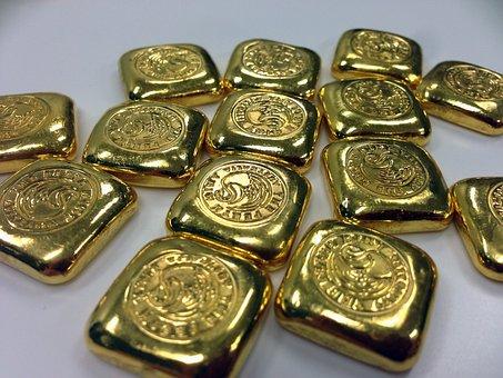 Gold, Gold Bar, Gold Bullion, Gold Ingot