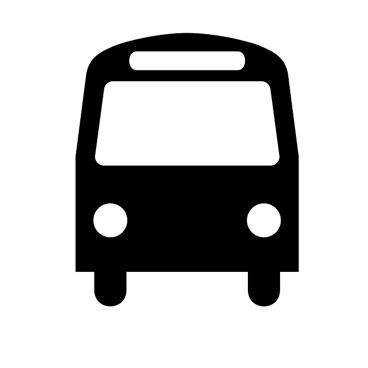 Bus, Public Transport, Black, Symbol