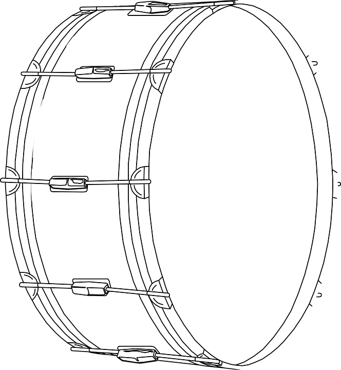 Drum Tambourine Timbrel Free Vector Graphic On Pixabay