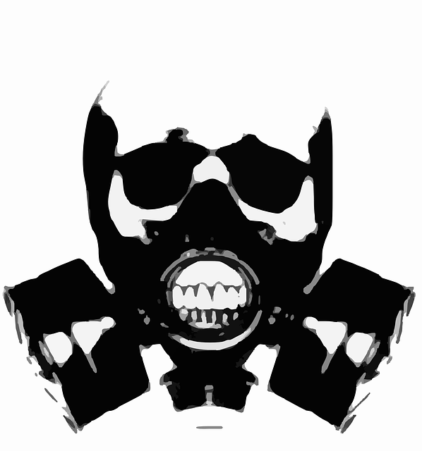 Gas Mask Silhouette Skull · Free vector graphic on Pixabay Fitness Logo Png